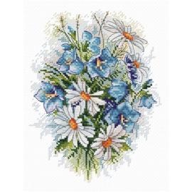 Borduurpakket Field Flowers - mp studia