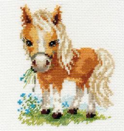 Borduurpakket White Mane Horse - Alisa