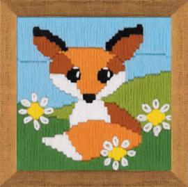 Borduurpakket Fox in Daisies - RIOLIS