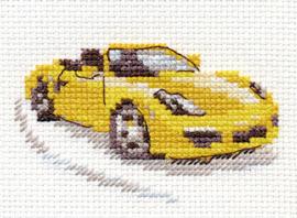 Borduurpakket Yellow Sportscar - Alisa