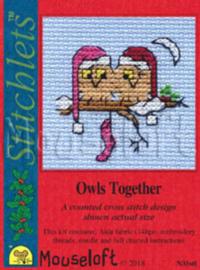 Borduurpakket Owls Together - Mouseloft
