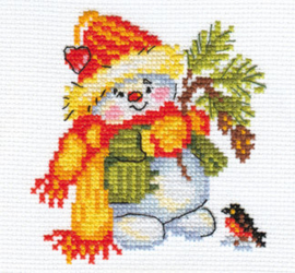 Borduurpakket Little snowman - Alisa