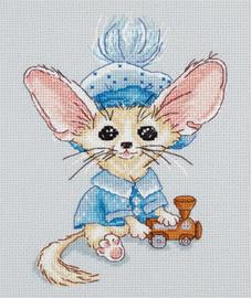 Borduurpakket Baby Fanya Blauw - PANNA