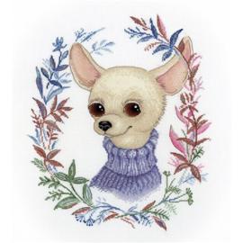 Borduurpakket Chihuahua Met Trui