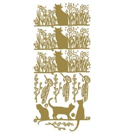 Stickervel Katten Goud