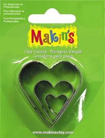 Uitsteekvorm set hart