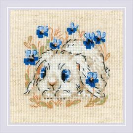Borduurpakket Little Bunny - RIOLIS