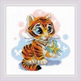 Borduurpakket Curious Little Tiger - Riolis