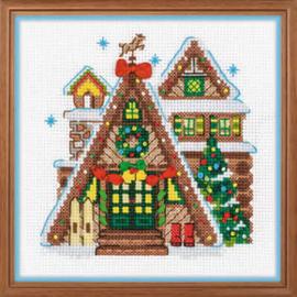 borduurpakket Winter Cabin - Riolis