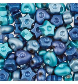 Sieraadkralen Blauwe mix