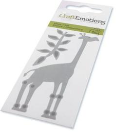 CraftEmotions Die - giraf Card 5x10cm Carla Creaties