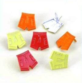 Korte Broek Splitpennen - Rood, Groen, Oranje