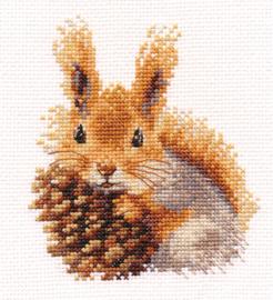 Borduurpakket Squirrel - Alisa