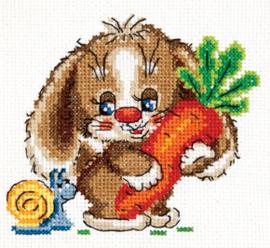 Borduurpakket Sweet carrot - Chudo Igla