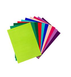 Fluweel Papier Vrolijke Kleuren