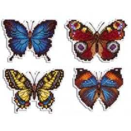 Borduurpakket Magneten - Bright Butterflies - Mp Studia