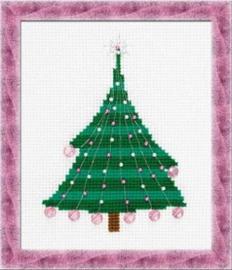 Borduurpakket Kerstboom Met Kerstballen - Riolis