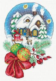 Borduurpakket Christmas Snow Globe - PANNA