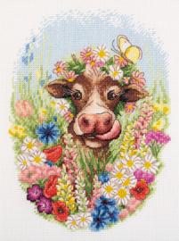 Borduurpakket Sunny The Cow - Panna