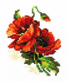 Borduurpakket Red poppy - Chudo Igla (Magic Needle)