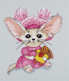 Borduurpakket Baby Fanya Roze - PANNA