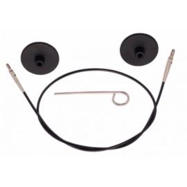 Knitpro Kabel Met Connector 40cm Zwart