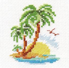 Borduurpakket Palm Island - Alisa