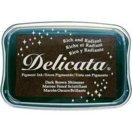 Delicata inktkussen Dark brown shimmer