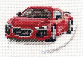 Borduurpakket Red Sportscar - Alisa