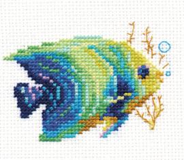 Borduurpakket Tropical Fish Emerald - Alisa