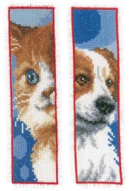 Bladwijzer kit Kat en hond set van 2