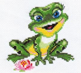 Borduurpakket Beautiful Frog - Alisa
