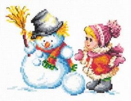 Borduurpakket Winter fun - Chudo Igla