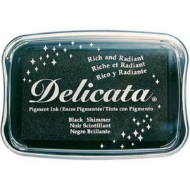 Delicata inktkussen Black shimmer