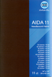 Borduurstof Aida 11 count - Black