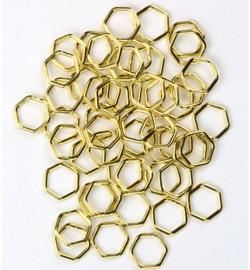 Ringetjes Goud Hexagon - 7mm