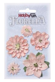 Papieren Bloemen Zacht Roze