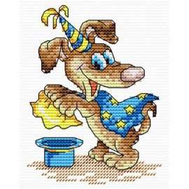 Borduurpakket Goochelaar Hond