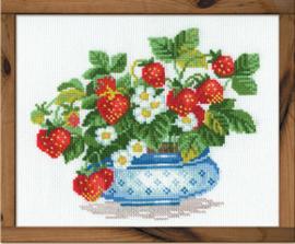 Borduurpakket Strawberries - RIOLIS