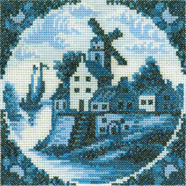 Borduurpakket Antique Dutch Tiles - RTO