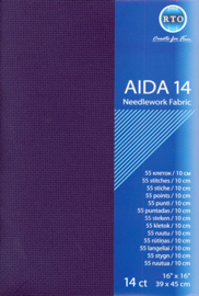 Borduurstof Aida 14 count - Dark Blue - RTO