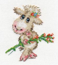 Borduurpakket Pretty Lamb - Alisa