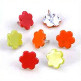 Bloemen Splitpennen - Rood, Groen, Oranje