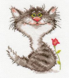 Borduurpakket Kitten - Alisa