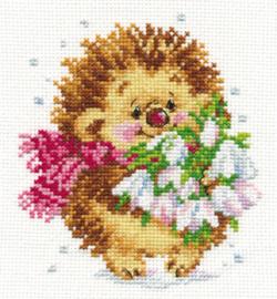 Borduurpakket Spring Hedgehog - Alisa