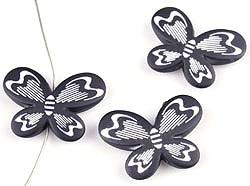 Vlinder Kralen Zwart