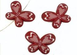 Vlinder Kralen Rood