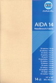 Borduurstof Aida 14 count - Beige - RTO