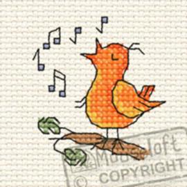 Borduurpakket Chripy Bird in the Woods - Mouseloft