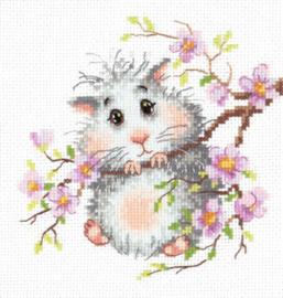 Borduurpakket Mr. Hamster - Chudo Igla